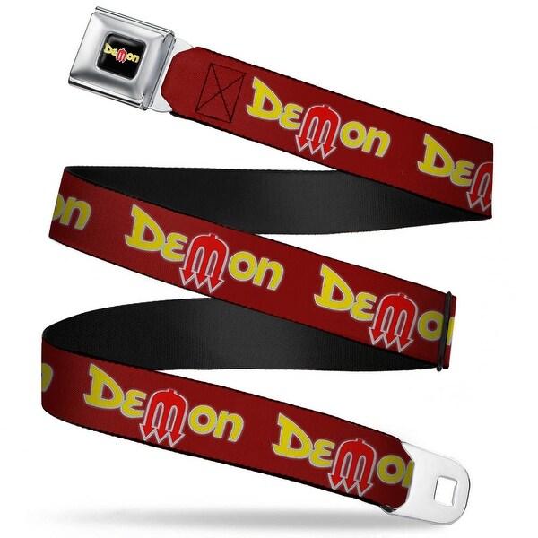 Dodge Demon Full Color Black Yellow Red Dodge Demon Burgundy Yellow Red Seatbelt Belt