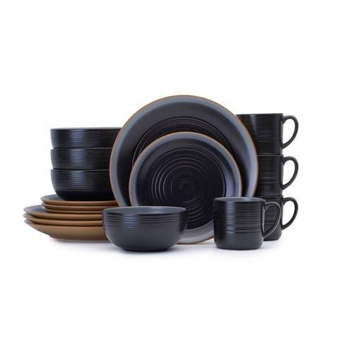 Pfaltzgraff Kingsley Black 16PC Dinnerware Set (Service for 4)
