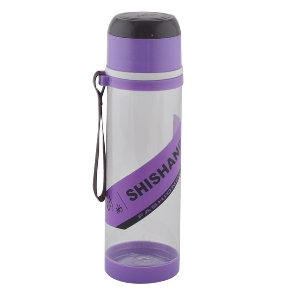 Camping Plastic Detachable Tea Strainer Sport Water Bottle Cup Mug Purple 760ML