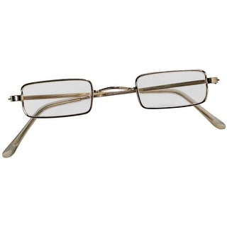 Rectangular Wire Rim Glasses Adult Costume Accessory