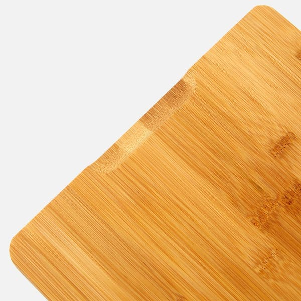 Vaiyer Bamboo Wood Cutting Board For Kitchen Fruits With 3 Built ...