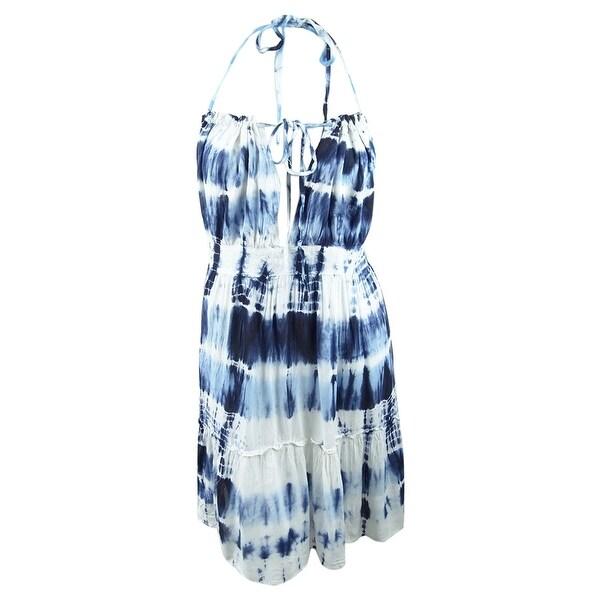 Raviya Women's Tie-Dyed Short Halter Cover-Up - Slate - XL