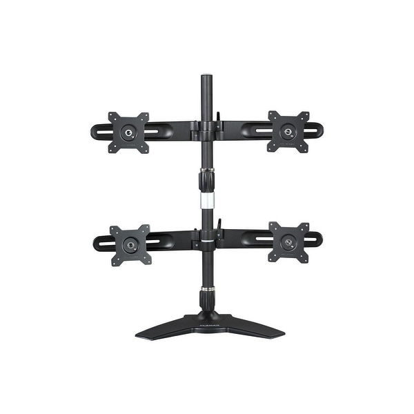 "Planar 997-5602-00 Quad Monitor Stand For 15"" To 24"" Lcd Monitor, Black"