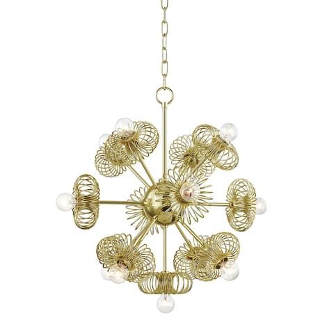 Mitzi by Hudson Valley Lighting Serena 3-light Polished Brass Chandelier