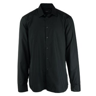 Givenchy Mens Classic Black 100%Cotton Button Down