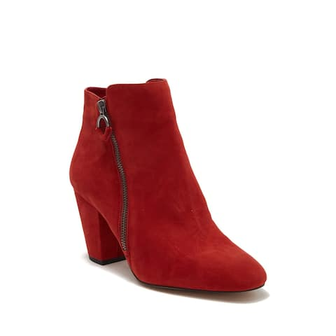 1.STATE Womens PREETE Suede Almond Toe Ankle Fashion Boots