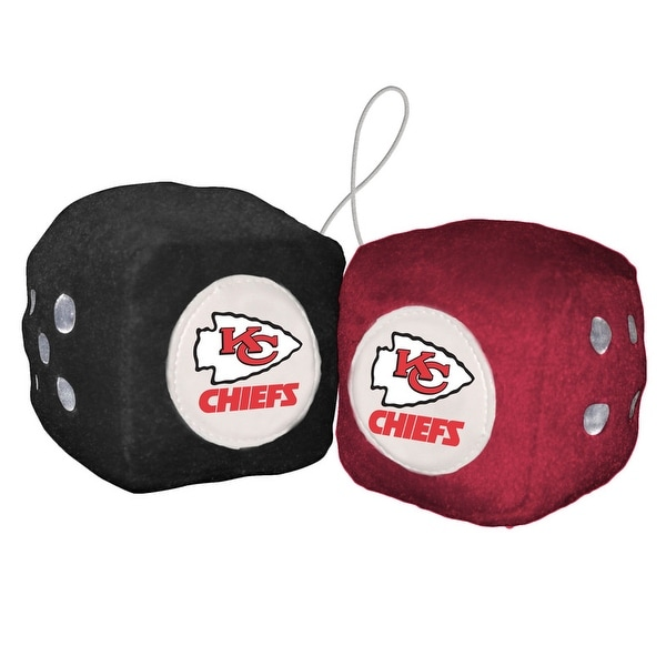 Kansas City Chiefs Fuzzy Dice. Opens flyout.