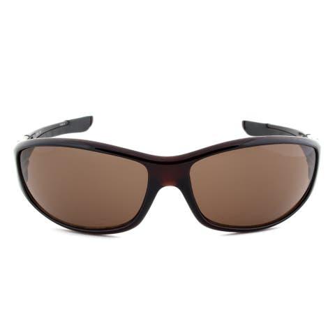 Timberland TB7093 50E Sport Wrap Sunglasses Dark Brown Frame Brown Lens - 67mm x 15mm x 125mm