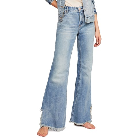 Free People Womens Vintage Flared Jeans, Blue, 25