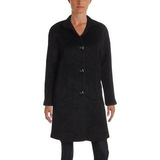 Jones New York Womens Petites Car Coat Winter Wool