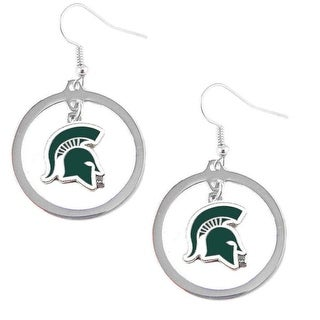 Michigan State Spartans Hoop Logo Earring Set NCAA Charm