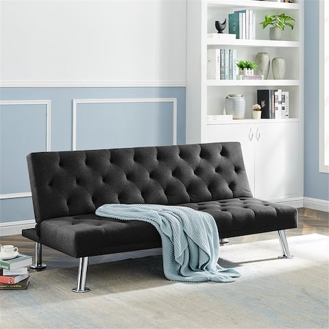 AOOLIVE Folding Sofa Bed Couch Bed , Upholstered Convertible Sleeper