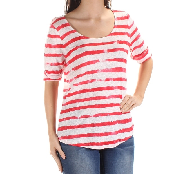 c7981a018 ... where to buy ralph lauren 80 womens new 1758 red striped short sleeve t  shirt top