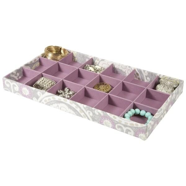 18 Section Jewelry Tray Drawer Organizer (Purple)