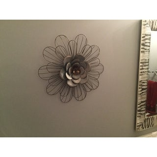 Shop Stratton Home Decor Galvanized Metal Daisy Wall Decor