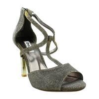 Dune London Womens Gold T-Strap Heels Size 6