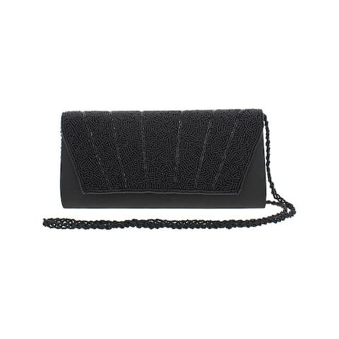 Adrianna Papell Womens Irisa Clutch Handbag Satin Beaded - Small