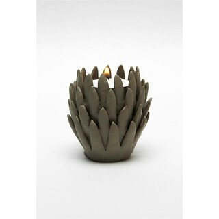 Design Toscano Kosa 3 Brown Hand-Crafted Ceramic Candleholder