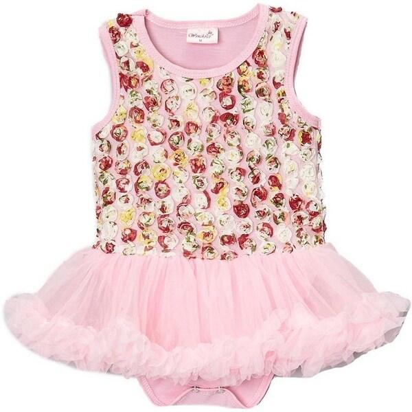Wenchoice Baby Girls Blue Rose Tutu Sleeveless Bodysuit