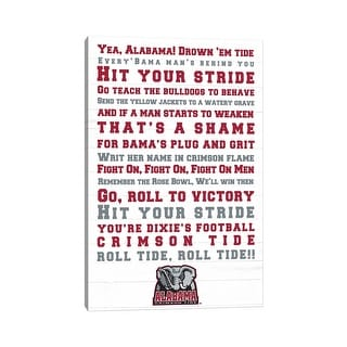 """Link to iCanvas """"Alabama Crimson Tide Fight Song"""" by The University of Alabama Canvas Print Similar Items in Fan Shop"""