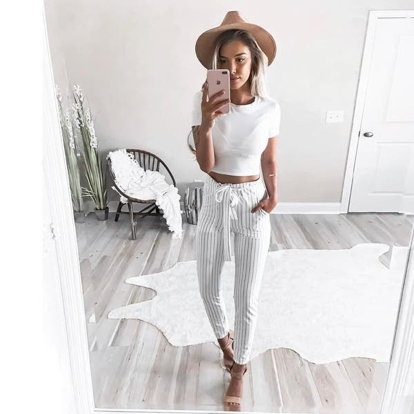 13b9b38ca9db8f New Striped Ol Chiffon High Waist Harem Pants Women Stringyselvedge Summer  Style Casual Pants Female Trousers