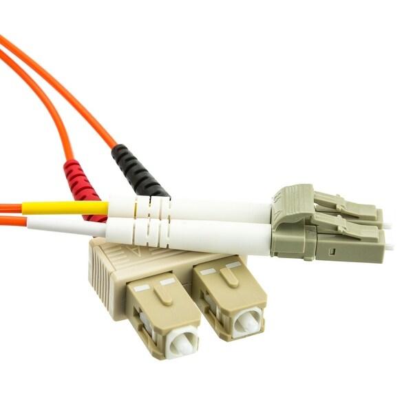 Offex Fiber Optic Cable, LC / SC, Multimode, Duplex, 62.5/125, 2 meter (6.6 foot)
