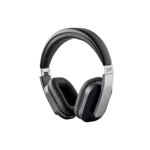 Monoprice MP Bluetooth Over Ear Headphone with Qualcomm AptX Support Perfect For Home, in The Office, or On The Go