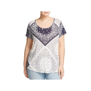 Lucky Brand Womens Plus Pullover Top Modal Blend Paisley (2 options available)