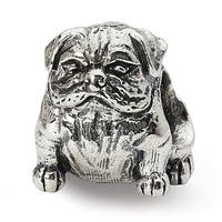 Sterling Silver Reflections Bulldog Bead (4mm Diameter Hole)