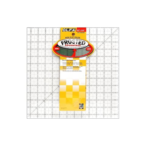 1071818 olfa acrylic ruler frosted 12 5x12 5 square