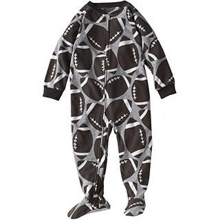Carter's Little Boys' Footed Blanket Sleeper - Football Fun-Brown- 2T