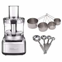 Cuisinart FP-8SV Elemental 8 Food Processor w/ Bundle (Silver, Refurbished)