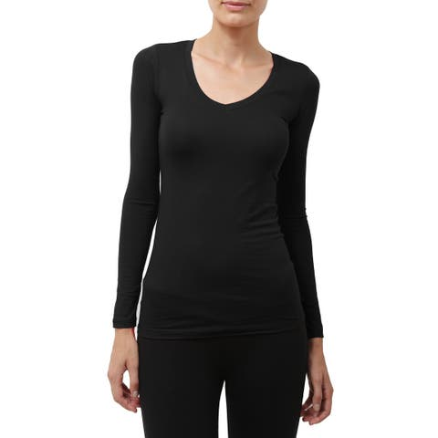 NE PEOPLE Womens Comfy Light Weight Basic Long Sleeve V Neck Shirt