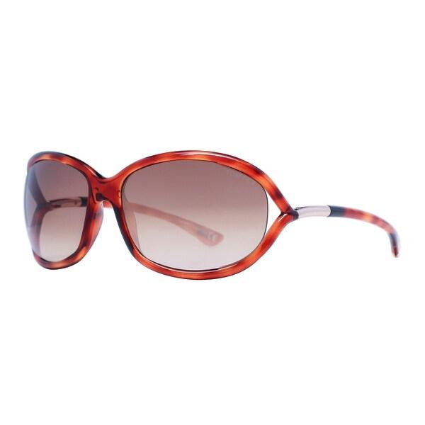 Tom Ford Jennifer TF 8 52F Havana Brown Gradient Women's Soft Square Sunglasses - brown havana - 61mm-16mm-120mm