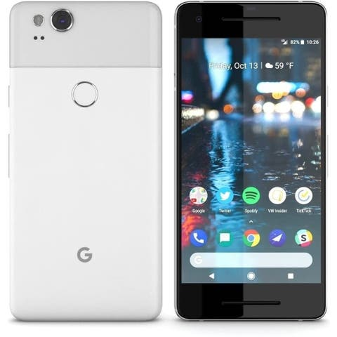 """Google Pixel 2 64GB 5.0"""" 4G LTE Unlocked,Clearly White(Certified Refurbished) - Clearly White"""