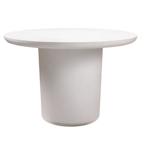 Roxie Ivory Concrete Dining Table