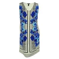 INC International Concepts Women's Sleeveless Floral Print Dress