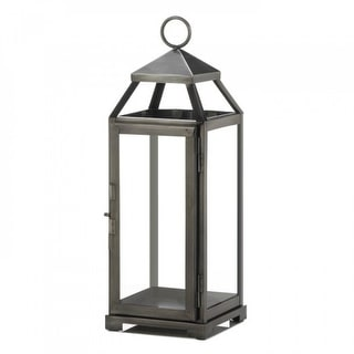 Set of 2 Medium Brushed Pewter Lanterns
