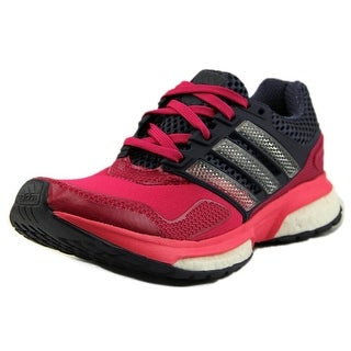 Adidas Response Boost 2 Techfit J Round Toe Synthetic Running Shoe
