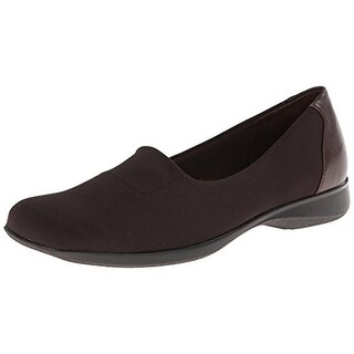 Trotters Womens Jake Canvas Slip On Loafers - 6.5 wide (c,d,w)