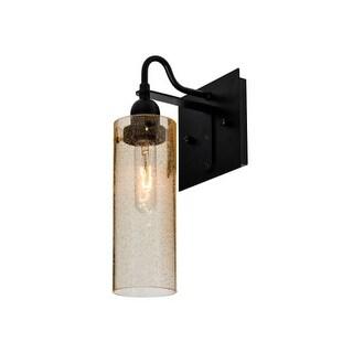 Besa Lighting 1WG-JUNI10GD Juni Single Light Wall Sconce with Gold Bubbled Glass Shade
