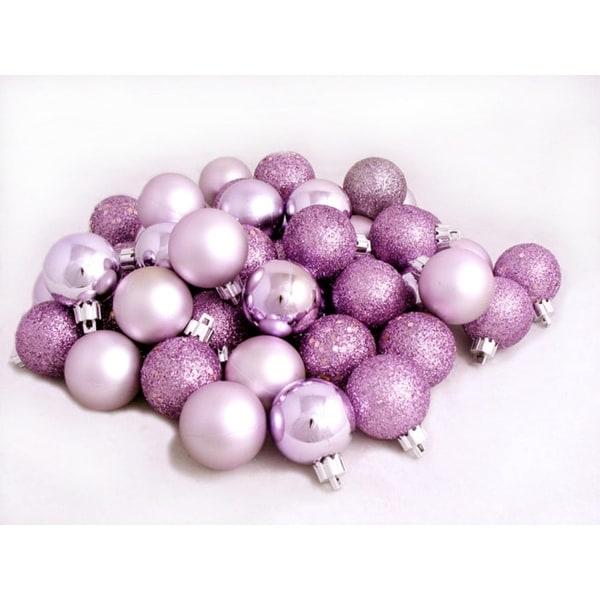 "72ct Light Lavender Purple Shatterproof 4-Finish Christmas Ball Ornaments 2.5"" (60mm)"