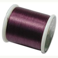 Japanese Nylon Beading K.O. Thread for Delica Beads - Purple 50 Meters