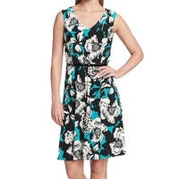 Tommy Hilfiger Blue Women's Size 6 Belted Floral Sheath Dress
