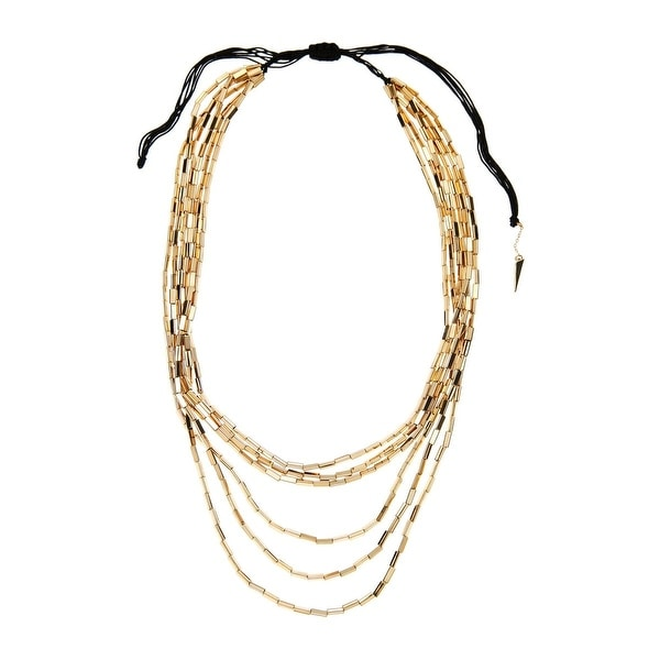 House Of Harlow 1960 Womens Necklace 6 Strand Beaded - Gold