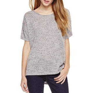Two by Vince Camuto Womens Casual Top Metallic Short Sleeves