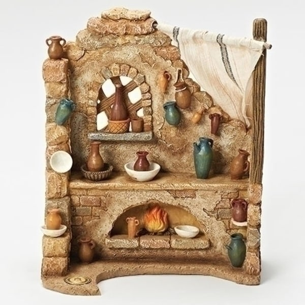 "10.25"" Pottery Shop Scene for Fontanini 7.5"" Nativity Collection #52876"