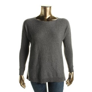 Private Label Womens Pullover Sweater Cashmere Ribbed Trim