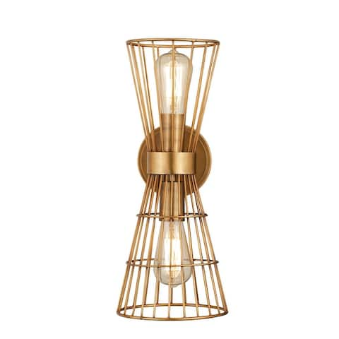 Alito 2 Light Wall Sconce - Rubbed Brass
