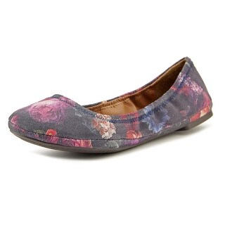 Lucky Brand Emmie Women Round Toe Leather Multi Color Ballet Flats